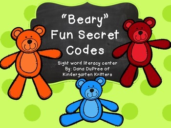 """Beary"" Secret Codes"