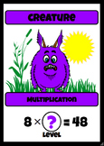 Beastie Battles: 8's Deck Multiplication Fact Card Game