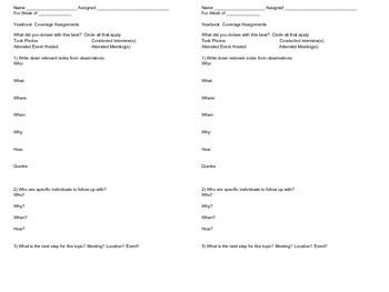 Beat Assignment Sheet