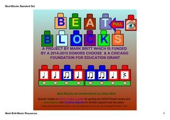 Beat Blocks Rhythmic Notation - Orff & Kodaly SMARTboard Activities