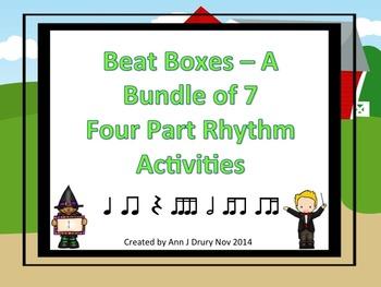 Beat Boxes - A Bundle of Seven 4 Part Rhythm and Compositi