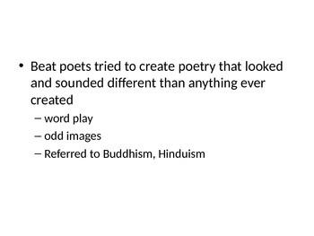 Beat Poetry PowerPoint