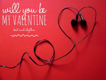 Beat & Rhythm Lesson:  Valentine Songs for PreK through 2nd