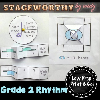 Beat & Rhythm Music Interactive Notebook - Grade 2
