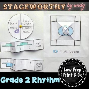 Grade 2 Beat & Rhythm Music Interactive Notebook