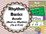 Rhythm Basics MEGA-Bundle - Songs & Activities for beat, rhythm, ta, & ti-ti