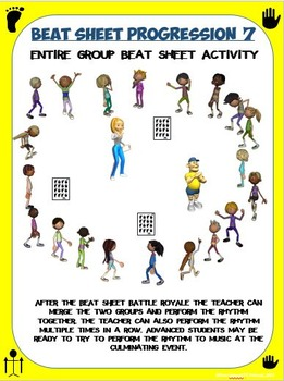 Beat Sheets- Dance Activity with 8 Student Rhythm Sheets