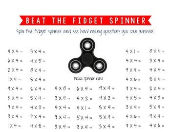 Multiplication - Beat The Fidget Spinner
