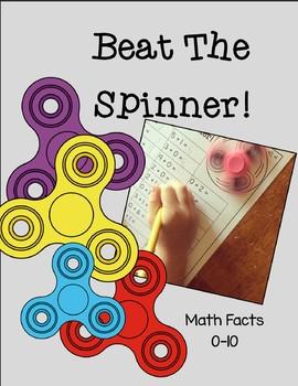 Beat The Spinner- Math Fluency 0-10