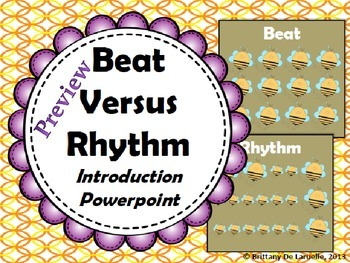 Beat Versus Rhythm Introduction PDF Preview