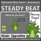 Elementary Music Game: Steady Beat or Not? Interactive Music Game {Dragon}