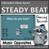 Elementary Music Game: Steady Beat or Not? Interactive Music Game {Raccoon}