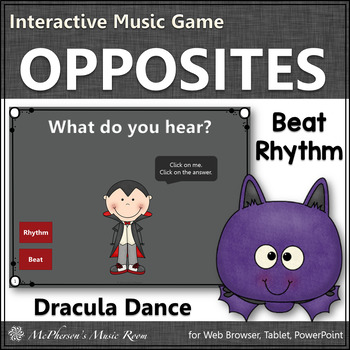 Beat or Rhythm Interactive Music Game  (Dracula)