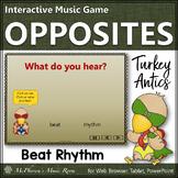 Thanksgiving Music: Beat and Rhythm {Interactive Music Game} turkey