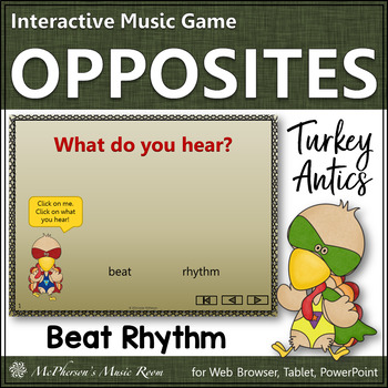 Thanksgiving Music: Beat and Rhythm {Interactive Music Game} turkey