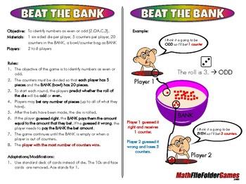 Beat the BANK - 2nd Grade Math Game [CCSS 2.OA.C.3]