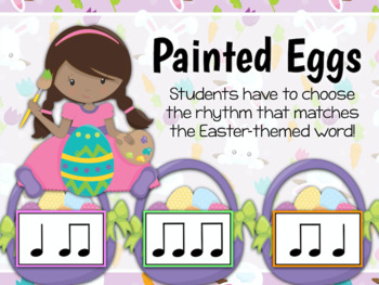 Beat the Bunny - Easter Bunny Interactive PDF game to identify Rhythm