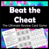 Beat the Cheat- The Ultimate Review Card Game (Editable!)
