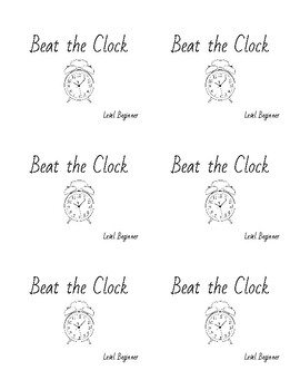 Beat the Clock!  1-3 Minute Challenge Task Cards for Violin Students