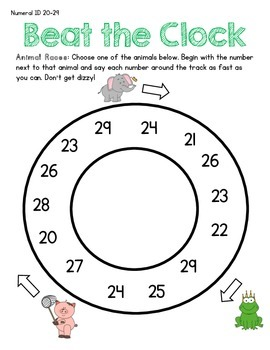 Beat the Clock - Numeral ID Fluency 0-99