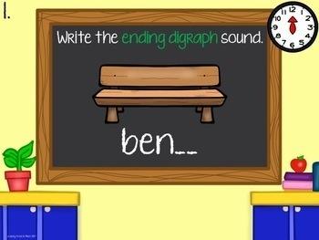 Beat the Clock Beginning & Ending Digraphs