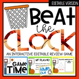 Beat the Clock Editable Game