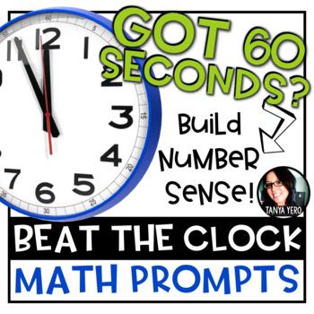 Beat the Clock Math Prompts 100 TASKS! Build Number Sense Grades 4-5