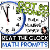 Beat the Clock Math Prompts 100 TASKS! Build Number Sense