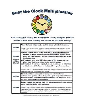 Beat the Clock Multiplication