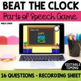 Beat the Clock Parts of Speech