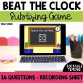 Beat the Clock: Subitizing