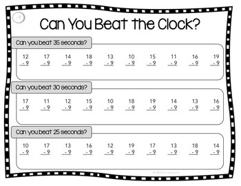 Subtraction Fact Practice - A Fun Twist on Timed Tests