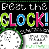 """Subtraction Game - """"Beat the Clock"""" for Subtraction Fact Practice"""