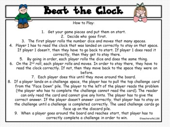 Beat the Clock: Telling Time Math Game