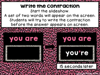 Beat the Computer to Name the Contraction or 2 Words that Make the Contraction