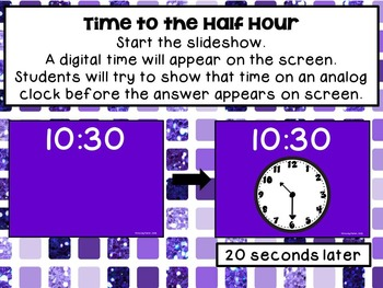 Beat the Computer to Show Analog or Digital Times to the Hour and Half Hour