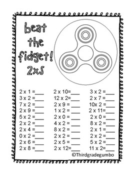 Beat the Fidget! Multiplication Fluency Games!