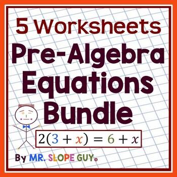 "Math Test Prep Worksheets Grade 8 ""Survivor's Guide"" Mathematics Bundle 3"