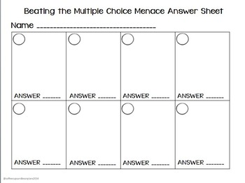 Multiple Choice Task Cards or Scoot for Pre-Algebra Expressions and Equations