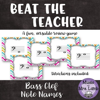 Beat the Teacher: Bass Clef Note Names
