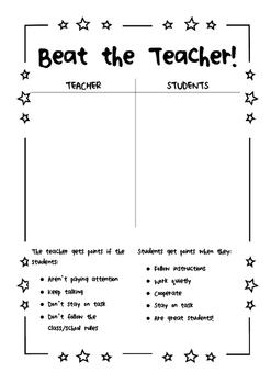 Beat the Teacher Classroom Management Strategy