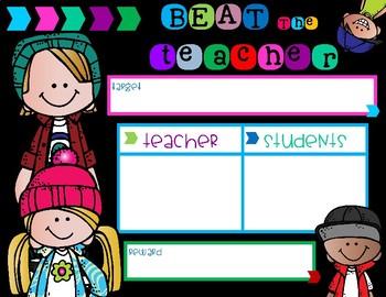 Beat the Teacher Display Chart