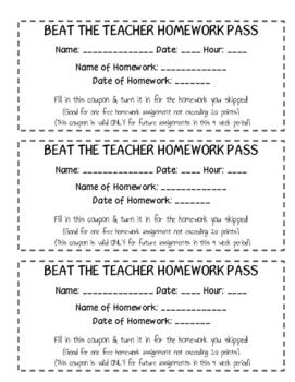 Beat the Teacher Student Reward Coupons