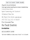 Beat the Teacher Student Reward List
