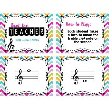 Beat the Teacher: Treble & Bass Clef BUNDLE
