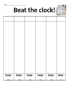 Beat the clock reading workshop game