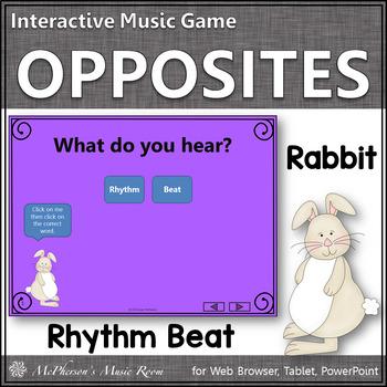 Spring Music Opposites ~ Rhythm or Beat Interactive Music Game {rabbit}