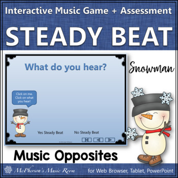 Beat vs No Beat - Interactive Music Game + Assessment {snowman}