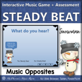 Winter Music Game Steady Beat or Not Interactive Music Game Assessment {snowman}