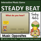 Thanksgiving Music Game ~ Steady Beat or Not Interactive Music Game {turkey}